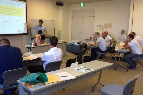 Training course in Japan 2014