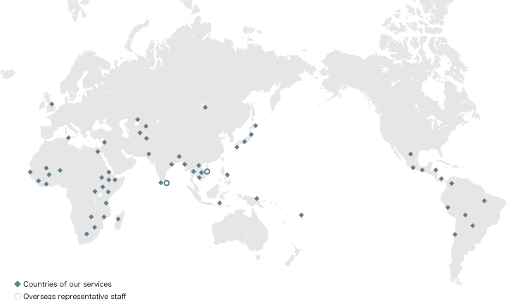 Countries of our services